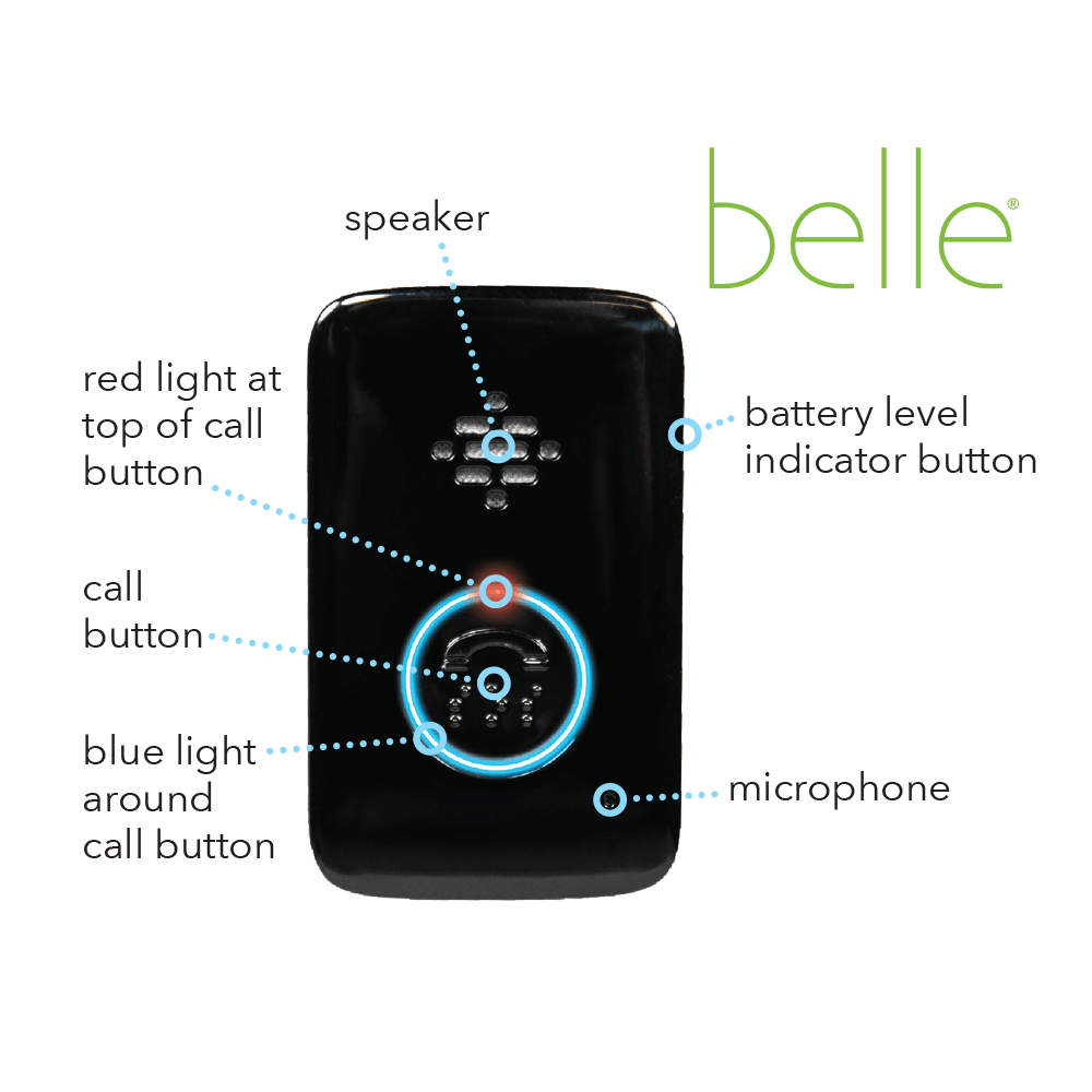 An infographic of a Belle Medical Alert