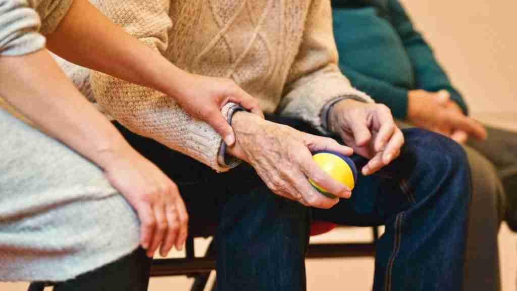 Senior Citizen playing